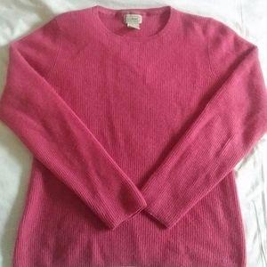 L.L.BEAN - cashmere waffle knit sweater